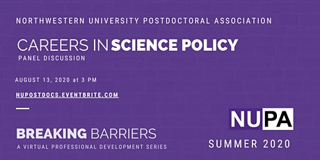Careers in Science Policy: NUPA Summer 2020 Professional Development Series tickets