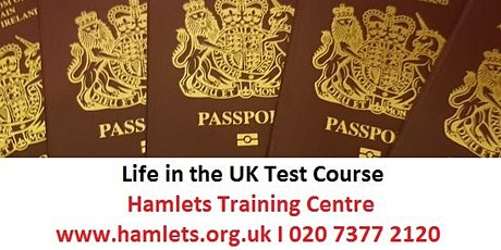 Life in the UK Test Training - INTENSIVE  (Classroom learning) tickets
