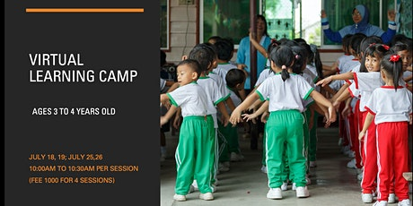 Virtual Learning Camp  (Ages 3 to 4 years old) tickets