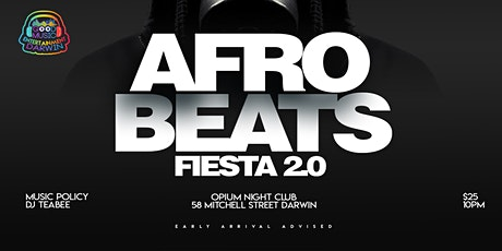 Afrobeat 2.0 Darwin on 24th July 2020 tickets