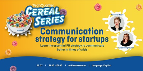 Cereal Series - Communication strategy for Startups tickets