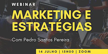 """WEBINAR """"Marketing e Estratégias"""" tickets"""