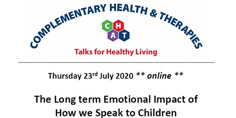 The Long term Emotional Impact of How we Speak to Children tickets