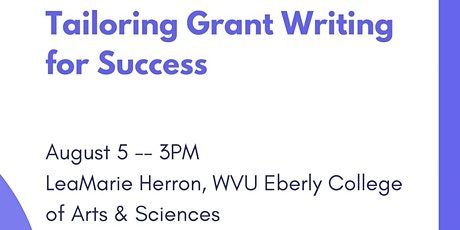 Tailoring Grant Writing for Success tickets