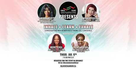 CBCC Women's Webinar : INHALE. LEARN. EXHALE tickets