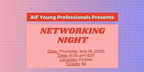 AIF Young Professional Presents: Networking Night tickets