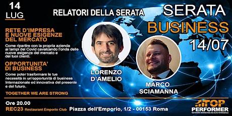 Serata dedicata alla scoperta di nuove opportunita' di business biglietti