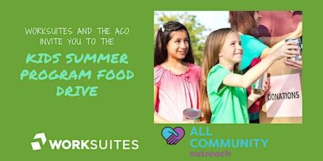 Kids Summer Food Program Food Drive tickets
