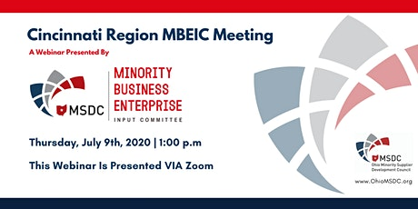 Cincinnati MBEIC July 2020 Webinar tickets