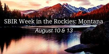 SBIR Week in the Rockies: Montana 2020 tickets