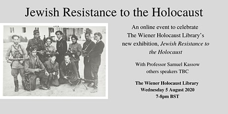 An online event to celebrate The Wiener Holocaust Library's new exhibition tickets
