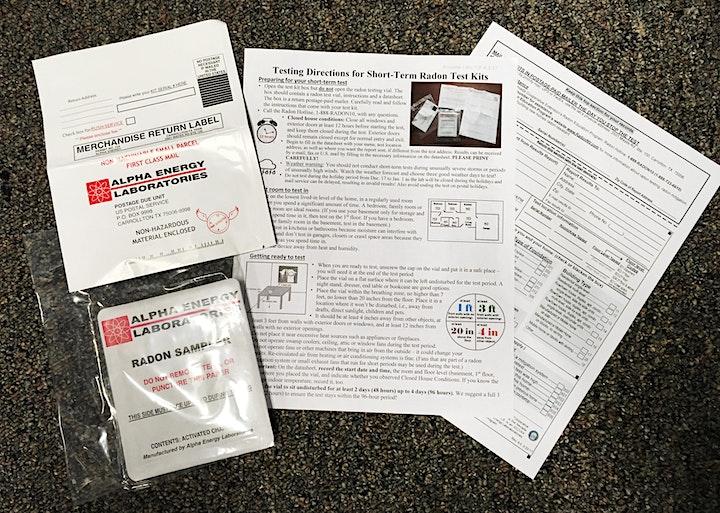 Short-term Radon test kit (3-day kit) image