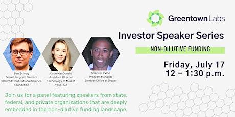Investor Speaker Series: Non-Dilutive Funding tickets