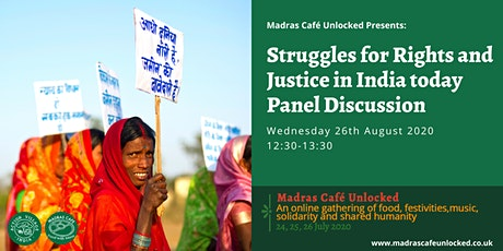 Struggles for Rights and Justice in India Today, Panel Discussion tickets