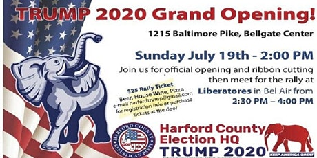 Trump 2020 Headquarters Ribbon Cutting and Rally! Signs Available! tickets