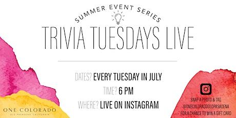 Trivia Tuesdays LIVE on Instagram | Summer Event Series tickets