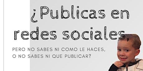 """Taller """"Introducción a Redes Sociales"""" boletos"""