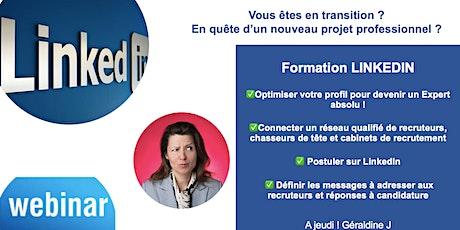 Webinaire Formation LinkedIn : SPECIAL DEMANDEURS D'EMPLOI billets