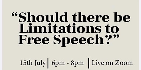 Philosophy for Community -  Should there be limitations on free speech? tickets