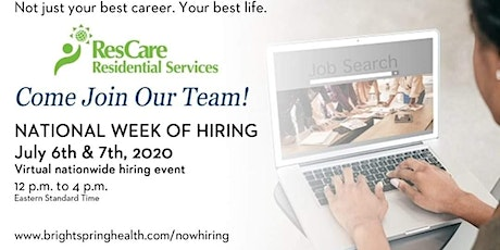ResCare National Week Of Hiring  tickets