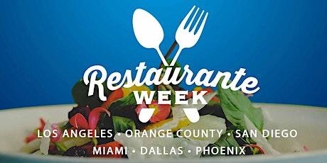 2021 Restaurante Week tickets