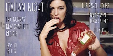 Italian Night tickets
