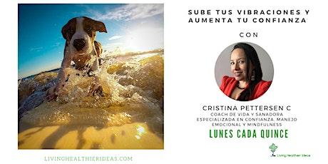 Sube tus Vibraciones y Aumenta tu Confianza con Cristina Pettersen tickets