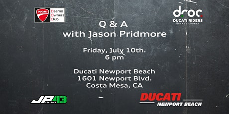 Riding Clinic - Q&A with Jason Pridmore tickets