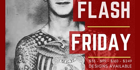 Flash Friday $35 tattoos July 31st -Aug 2nd tickets