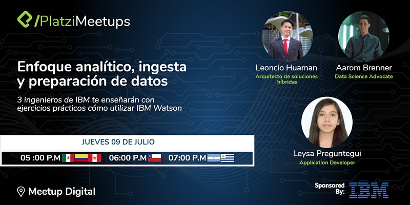 Anuncio de IBM + Platzi del 09 de julio a las 5pm