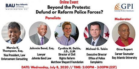 Beyond the Protests: Defund or Reform Police Forces? tickets