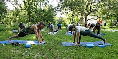 Circuit yoga extérieur billets
