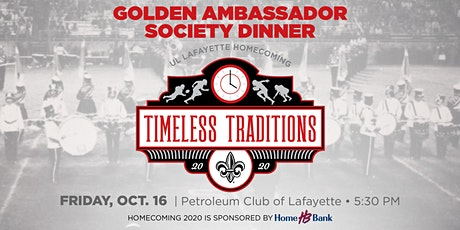 Golden Ambassador Society Dinner tickets