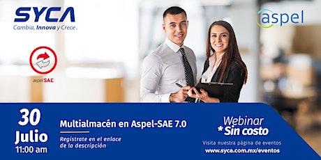 Multialmacén en Aspel-SAE 7.0 boletos