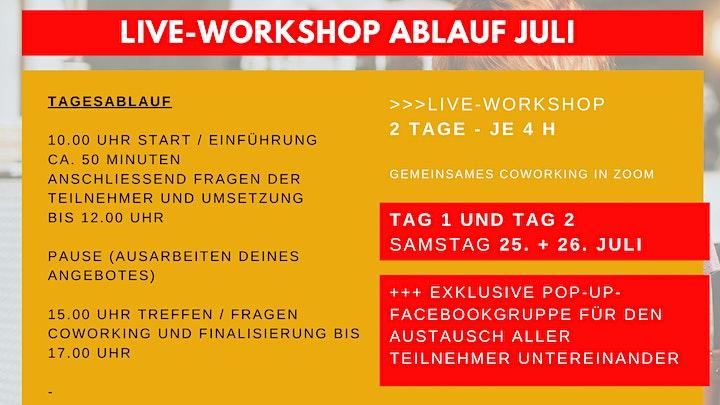Dein 1. digitales Produkt erstellen - Crashkurs inkl. 2-Tage-Workshop JULI: Bild