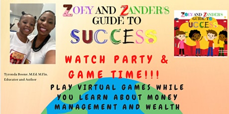 Watch Party & Game Time-Virtual Financial Games for Youth (Ages 8-12) tickets