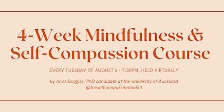 4-week Mindfulness and Self-Compassion Course tickets