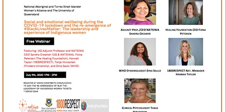 COVID-19 and the re-emergence of #BLM: The leadership of Indigenous Women tickets