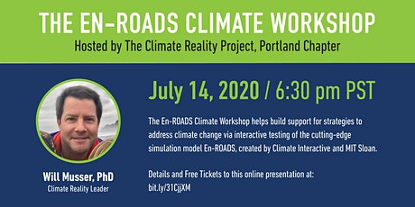 The En-Roads Climate Workshop presented by Will Musser, PhD tickets