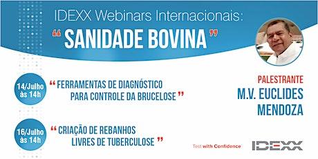 """IDEXX Webinars Internacionais: """"Sanidade Bovina"""" tickets"""