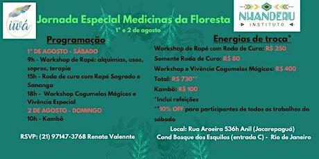 Jornada Especial Medicinas da Floresta ingressos