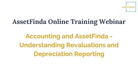 AssetFinda Online Training Webinar: Accounting and AssetFinda tickets