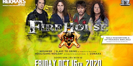 FIREHOUSE  IN DENVER, CO New Date is 10/16/20 tickets