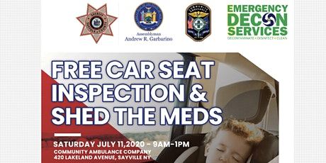 Child Car Seat Inspection / Vehicle Decon / Shed Meds tickets