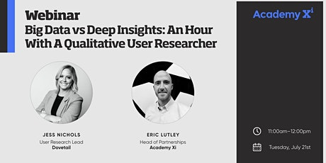 Big Data vs Deep Insights: An Hour With A Qualitative User Researcher tickets