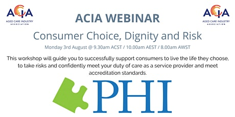 Consumer Choice, Dignity and Risk tickets