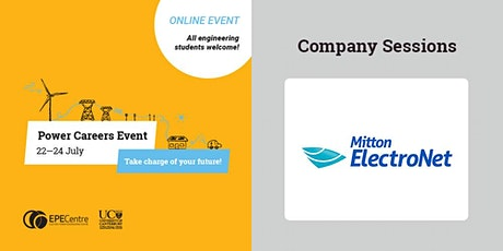 MITTON ELECTRONET - Power Careers Event - Industry - short sessions tickets