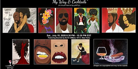 My Way and  Cocktails (A Virtual Paint and Sip pARTy!)-Local TN Pick up tickets