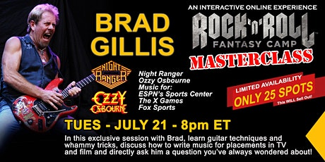 Guitar Masterclass with Brad Gillis of Night Ranger and Ozzy Osbourne! tickets