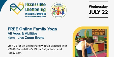 FREE Online Family Yoga - All Ages & Abilities - Live Zoom Event - 22 July tickets